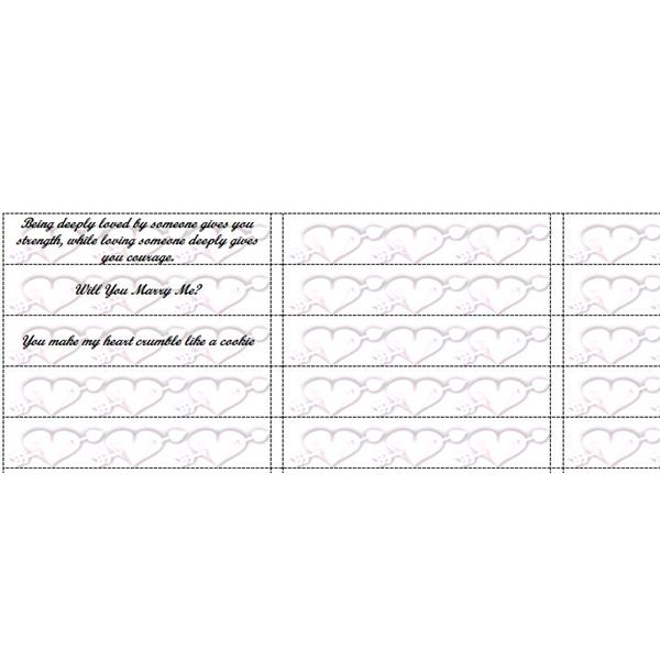 Fun Microsoft Word Templates: Fortune Cookie Slips for Party ...
