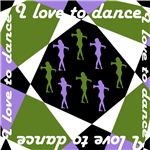 Print this dance template on your favorite dance tote for a festive fliar