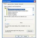 Setting Internet Explorer Parental Controls