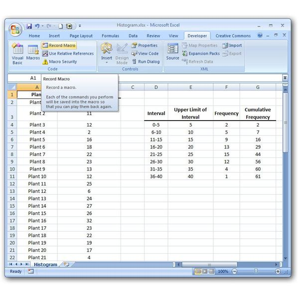 Learn How to Create a Macro in Microsoft Excel 2007