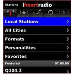 Main iheartradio interface