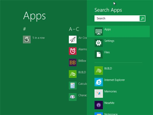 Launching Apps in Windows 8