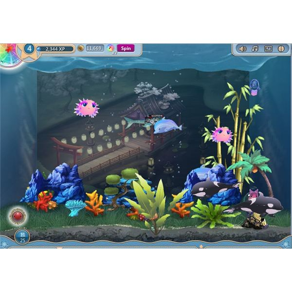Free aqua zoo free browser game play for free now for Fish tank game