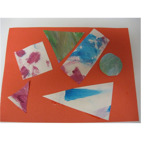 cut various shapes out of colored paper wrapping paper or even some of your toddlers old paintings then let him glue them onto a new sheet of paper to - Colour Activities For Toddlers