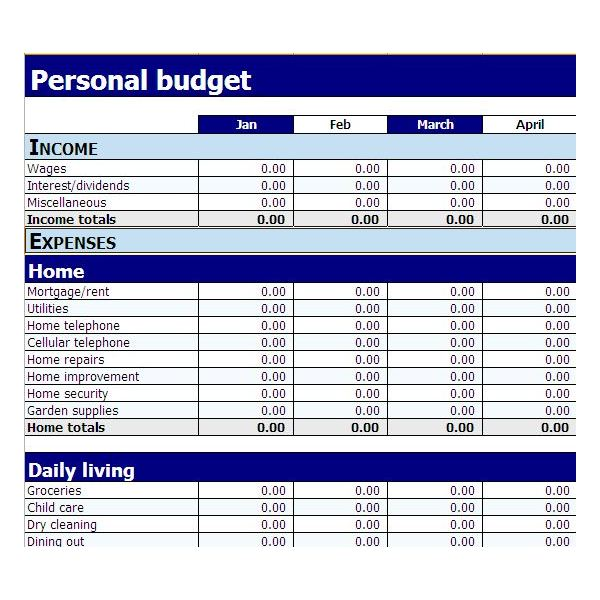 Easy Budget Template. free budget template that is super easy. 9 ...