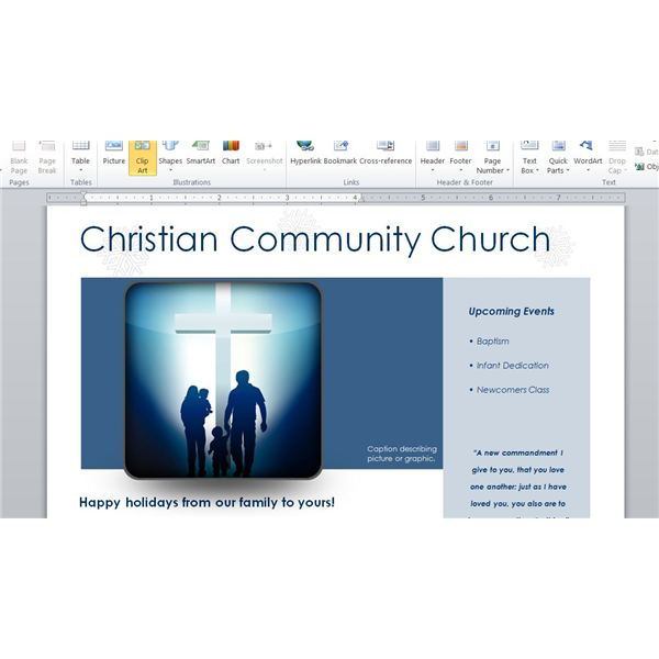 How To Make A Church Newsletter: Making Church Newsletters In Word