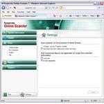 Settings of Kaspersky Online Scanner