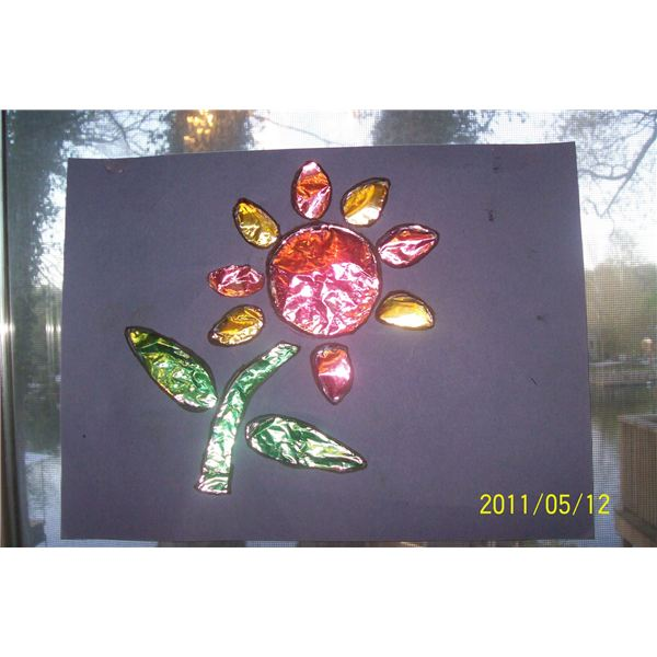 Stained glass spring art project for preschool cute for Preschool spring craft ideas