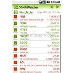Stock Watcher Android App
