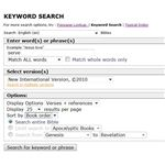 Gateway Bible Search: Keyword Search