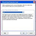 Set the level of protection you want your antivirus to provide