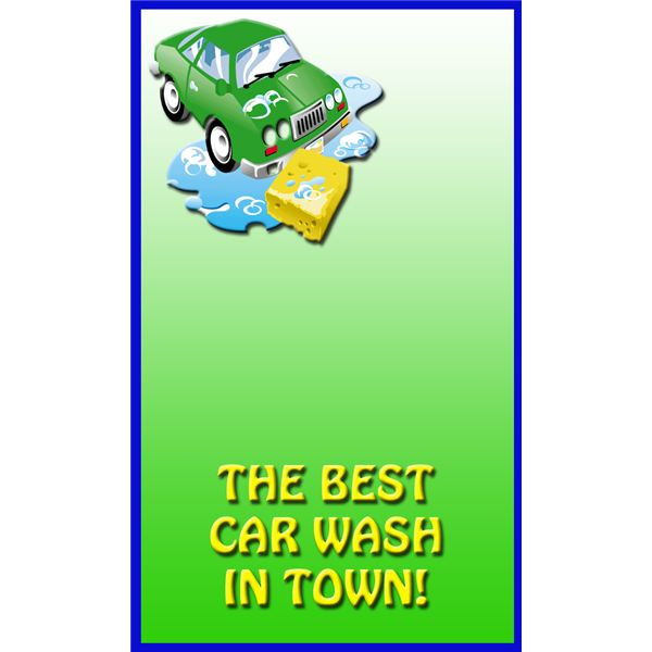 Free sample car wash flyer templates for Free car wash ticket template