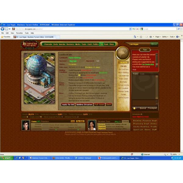 Mmo browser game review business tycoon online run your for Business tycoon