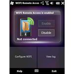 WiFi remote access screenshot