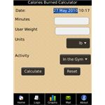 Calories burned calculator - Fitness App -Blackberry -pic