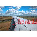 airplane flaps extended