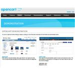 Opencart.com Screenshot: Demonstration Page