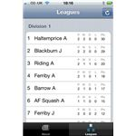 Humber Squash League iPhone App