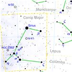 Constellation Map of Canis Major