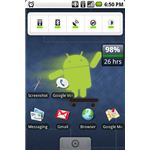 An Android 1.6 home screen with the Cyanogen mod.
