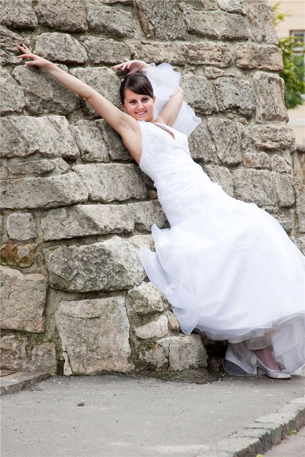 Ecstatic Bride