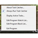 Task Catcher's Handy Menu