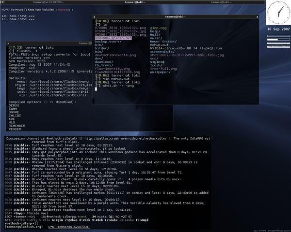 Fluxbox with a Minimal Taskbar