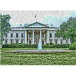 White House with Canvas Texture