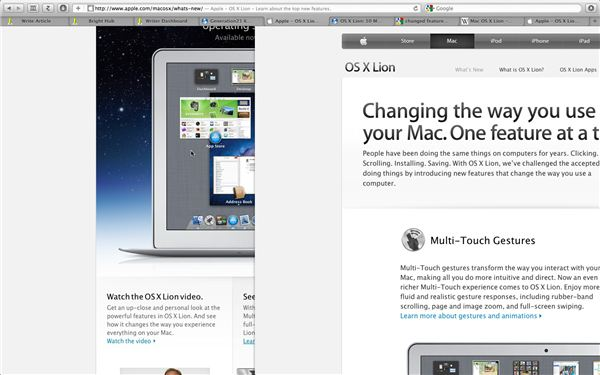 Fullscreen Safari with Multitouch