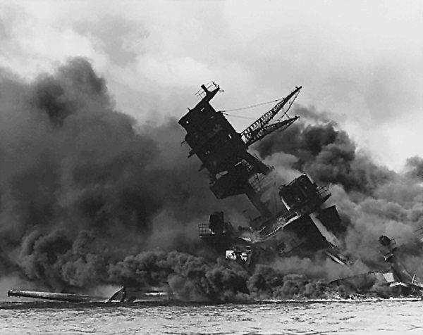 Destruction of the USS Arizona at Pearl Harbor