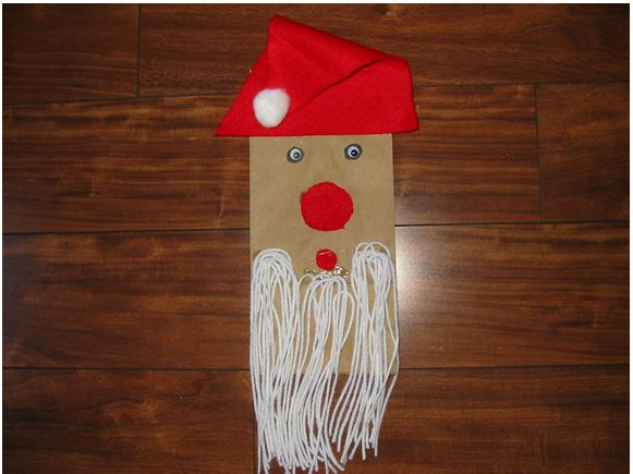 Lunch Bag Santa