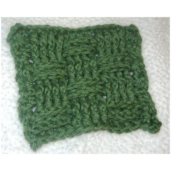 Free Crochet Pattern For Basket Weave Stitch : Free Crochet Dish Cloth Pattern with Step by Step ...