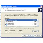 Fig 2: Windows XP Component Dialog