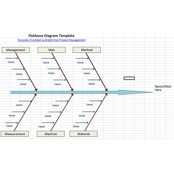 fishbone diagram 1 - Fishbone Model Template