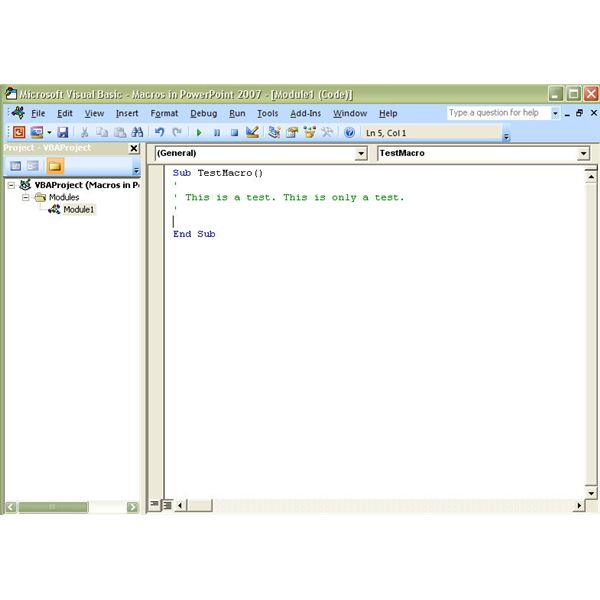 How to write vba code in powerpoint 2007