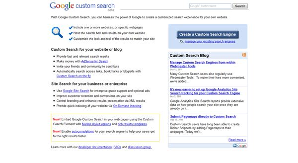 Create a Customized Google Search