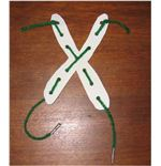 X shaped lacing board