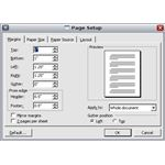 Microsoft Word margin settings