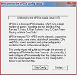 ePSXe Configuration Wizard Start