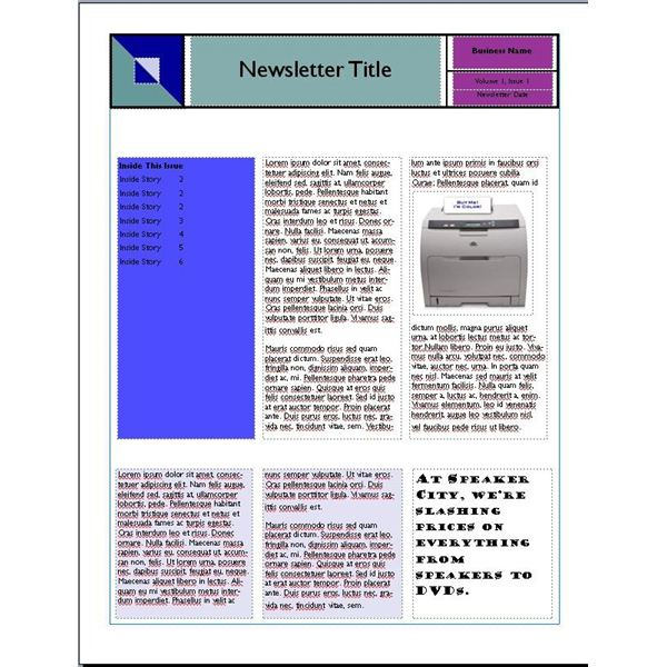 Reusable Newsletter Templates Can be Used Any Time of the Year