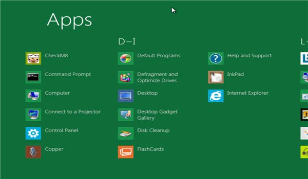 Browsing Apps in Windows 8