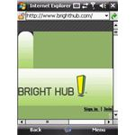 Bright Hub on IE Mobile