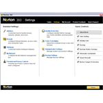 Settings UI in Norton 360