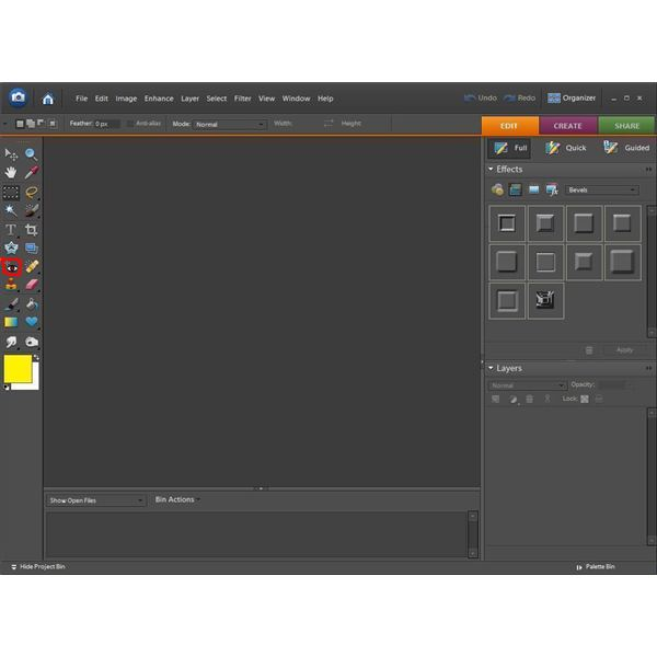 how to delete something when selected when cropping photoshop
