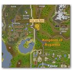 Location of Doric's House in Runescape