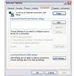 Checking LAN settings in IE8