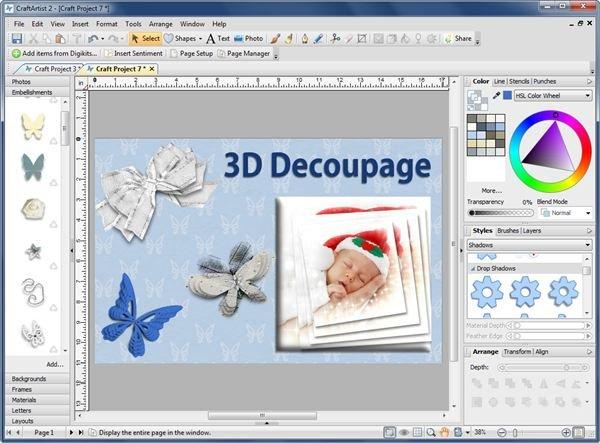 3D Decoupage Tool