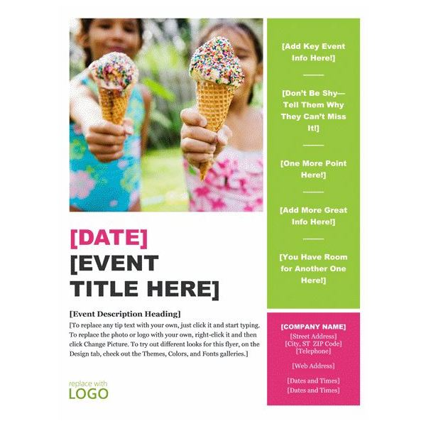 Report Template · Event Flyer · Brochure  Free Template Word