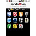 SportsTap Main Sports Selection Screen