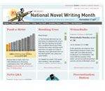 National Novel Writing Month website